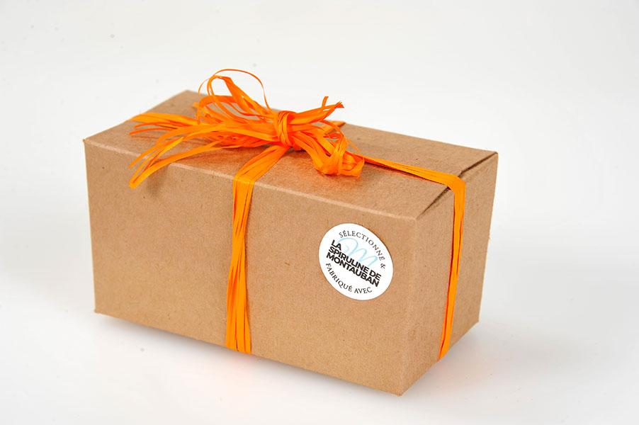 Découvrez le bonbon chocolat caramel et spiruline de Spiruline de Montauban