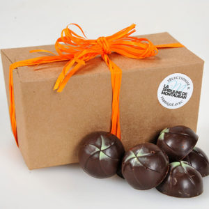 Un bonbon chocolat caramel et spiruline à déguster absolument